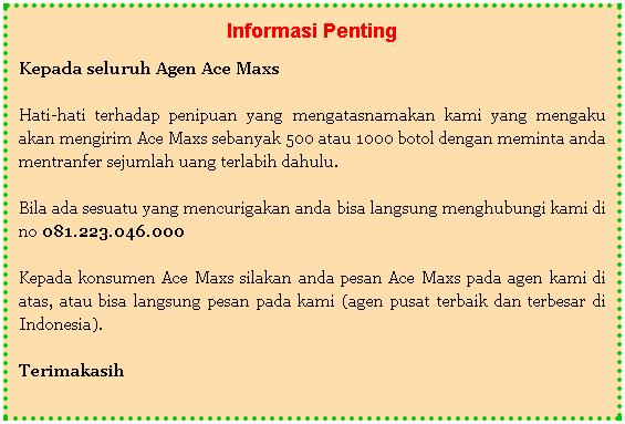 distributor resmi ace maxs di surabaya